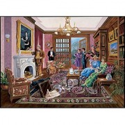 Bits and Pieces - 1000 Piece Murder Mystery Puzzle - Murder at Bedford Manor by Artist Gene Dieckhoner - Solve the Myste