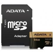 Card de memorie A-DATA, SDXC, Clasa 10, UHS-I U3, 64GB