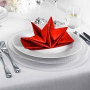 Origami-Servietten, 2 x 12, Rot