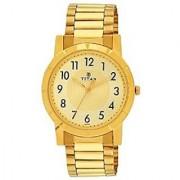 Titan Quartz Gold Round Men Watch 1647YM02
