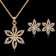Colar / Brinco ( Banhado a Ouro / Zircônia Cúbica ) Feminino - Fofo / Festa / Trabalho