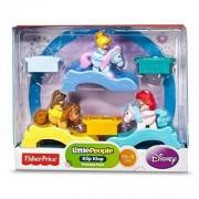 Little People, Disney Princess, Klip Klop Set, Princess Pack (Belle, Ariel, and Cinderella), by Fisher-Price