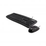 Kit Tastatura + Mouse Wired Zalman, ZM-K380 COMBO, USB, neagru, Mouse optic