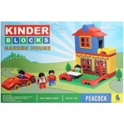 Peacock Kinder Blocks Garden House For Kids
