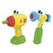 Kidz Delight - Kit de taladro y martillo (Cefa Toys 00427)