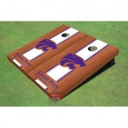 All American Tailgate NCAA Rosewood Matching Long Stripe Cornhole Board ALMT1085 NCAA Team: Kansas State University Wildcats Word Mark 2