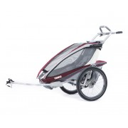 Thule Chariot CX 1 Bike trailer With Bike Set grey/red Rimorchi per bambini