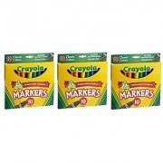Crayola 10ct Classic Broad Line Markers (3 Pack)
