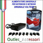 Alimentatore Caricabatterie Universale Notebook Acer Asus Samsung Sony Autosettante
