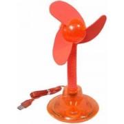 USB-Tisch-Ventilator orange-transparent