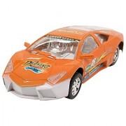 Techege Toys Orange Racing Lambo Super Car Self Driving BumpNGo Race Car Realistic Sounds Flashing Lights