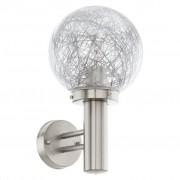 EGLO Wandlamp voor buiten Nisia 1 60 W zilver 93366