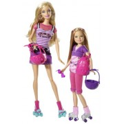 Barbie - T7428 - Muñeca Maniquí - Barbie y Stacie en Rollers
