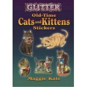 Glitter Old-Time Cats and Kittens Stickers by Maggie Kate