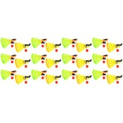 Set Of 12 Launch & Catch Childrens Kids Novelty Toy Ball Catching Game Play Set W/ Dual Launchers & Balls