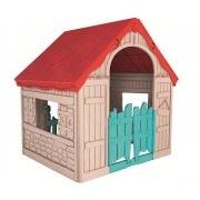 Foldable Play House gyerek játszóház piros-beige-kék KETER