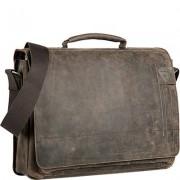 Strellson Herren Tasche strellson Notebook-Tasche Nubukleder dunkelbraun