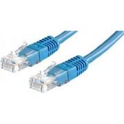 Kabel mrežni Roline UTP Cat 5e, 0.5m, (24AWG) High Quality, plavi