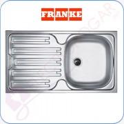 Fregadero Franke Colibri CIX611, Acero INOX, profundidad 140mm, mueble