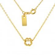 Silvego Stříbrný náhrdelník pozlacený s přívěskem čtyřlístek - SMJN009TR5
