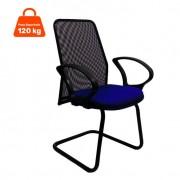 Cadeira de Escritório Tela Fixa Fixa Azul