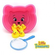 Little Treasures Ducks Baby Bath Toy Set for 18+ Months Toddlers Lovely Mother Duck with 6 Ducklings Bathtub Toy Playset