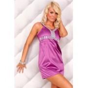 Tunique Robe Satiné Violet ( Couleur:Violet Tailles S/M M/L...:S/M)