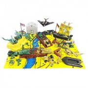 Ultimate Bridge Attack Army Playset With Bridges Boats Jeeps Tanks (70 Pieces)