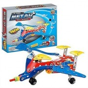 Easy Gift Jet Aircraft Metal Models Block Kits Construction Set Educational Toy Gifts for kids(124 PCS)