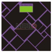 Cantar electronic Victronic, 180 kg, Platforma de sticla, Negru/Mov