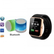CLONEBEATZ Music Mini Bluetooth Speaker(S10 Speaker) And GT08 Watch for GIONEE ELIFE E5