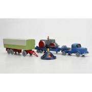 Set WIKING-Tráfico-modelos Nr.14: MB 5000 cargador de tolva baja, aplanadora de calles, 3-Achs-remolque y Drehampel , Modelo de Auto, modello completo, Wiking / PMS 1:87