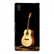 FUSON New Acoustic Guitar Dark 3D Hard Polycarbonate Designer Back Case Cover for Sony Xperia M4 Aqua :: Sony Xperia M4 Aqua Dual