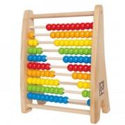 Jucarie eco din lemn Rainbow Bead Abacus Hape
