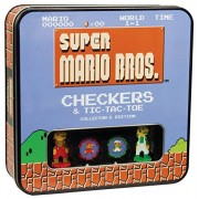 Super Mario Bros Checkers & Tic-Tac-Toe Collector's Edition Board Game by USAopoly