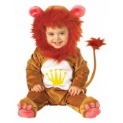 Disfarce animal leão bebé