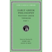 Early Greek Philosophy, Volume IV: Western Greek Thinkers, Part 1