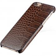 Husa de protectie FLOVEME Premium Snake pentru iPhone 6 / iPhone 6S, Leather Brown