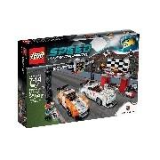 Lego Speed Champions Porsche 911 GT célvonal 75912