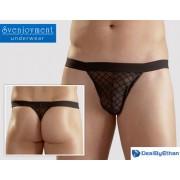 Svenjoyment Latice Power Net G String Underwear Black 2111020