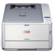 Imprimanta laser color, OKI C321dn LED, A4, USB, Retea, Duplex