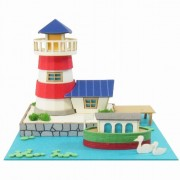 Canal boat MP05-08 and Mini Light House and miniature (japan import)