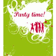 6 Uitnodigingskaarten met envelop - Party time!