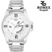 Romex Super Day N Date Analog White Dial Mens Watch- Dd-11Wht