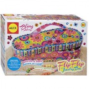 ALEX Toys Craft Bling Along Flip Flop Jewelry Box