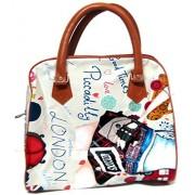 Art box Rich Leather look Medium size Girl print HAND/MULTIPURPOSE bag for girls