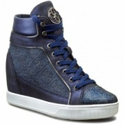 Guess Furr Active Printed Suede FLFUR4 SUP12 BLUE