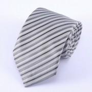 Szürke, fekete - ezüst csíkos nyakkendő