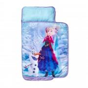WORLDSAPART Disney Frozen Babydecke mit integriertem Kopfkissen 110x72 cm lila