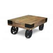 Table basse en bois au design industriel - Tectona